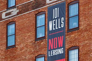 101 Well Apartments Leasing Sign