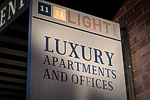 1111 Light Street Apartments Sign