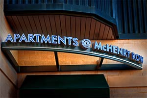 McHenry Row Apartments Sign