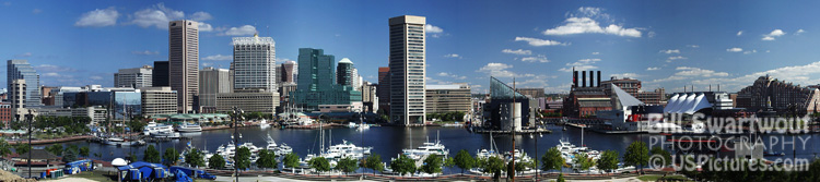Baltimore Inner Harbor Panorama Copyright Bill Swartwout